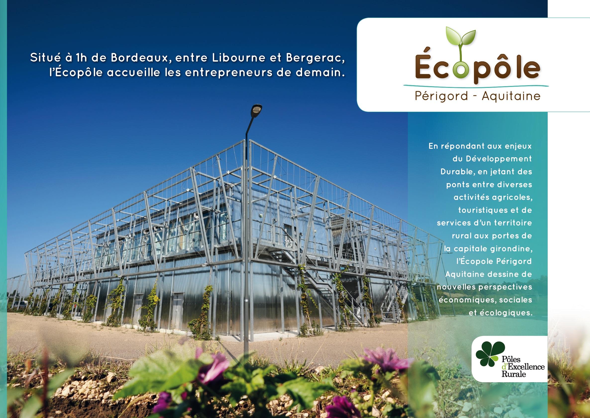 image représentant la couverture de la plaquette Ecopôle Périgord Aquitaine