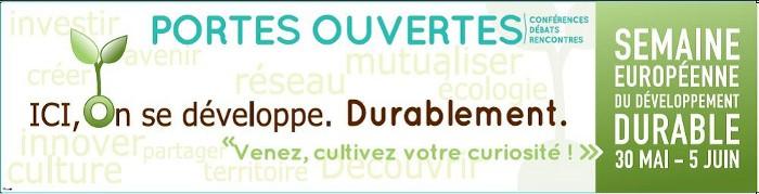 banderole Semaine Européenne du Developpement Durable